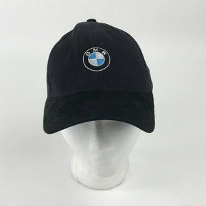 BMW Baseball Cap Hat Black 6 Panel Strap Back